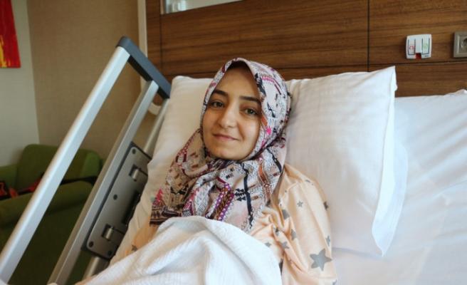 Hastanın rahminden 41 miyom çıkartıldı