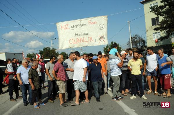 'Ölüm yolu'nda protesto
