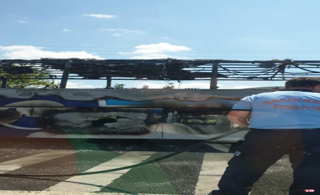 Şehirlerarası facia 1'i çocuk 5 kişinin yandığı belirtiliyor