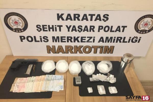 Gaziantep'te uyuşturucuya 3 tutuklama