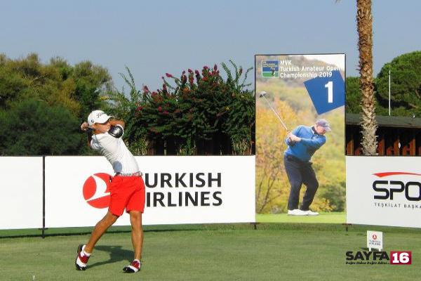 Golfte Uluslararası Türkiye Amatör Açık Şampiyonası'nın ilk raundu tamamlandı