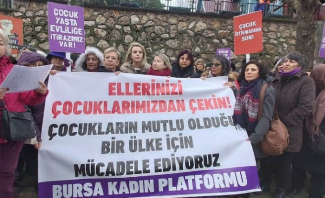 Bursa kadın platformu cinsel istismara karşı toplandı