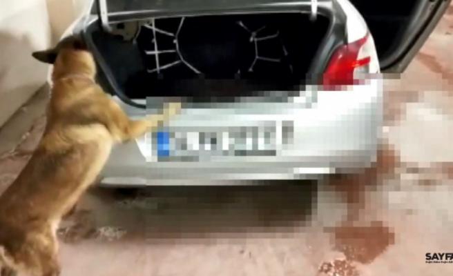 Bursa'da otomobilden 16 kilo uyuşturucu çıktı
