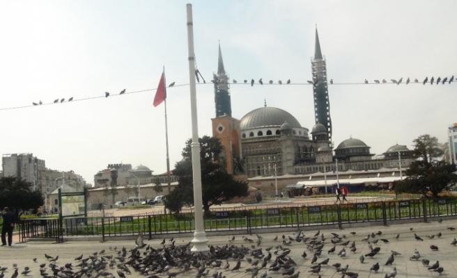 Taksim Meydanı kuşlara kaldı