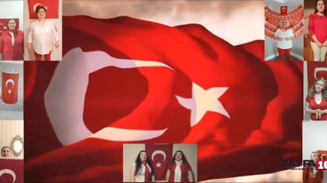 Bursa'da dans topluluğu 19 Mayıs için evde klip çekti