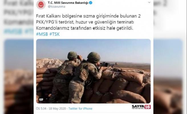 Sızma girişiminde bulunan 2 PKK/YPG'li etkisiz hale getirildi