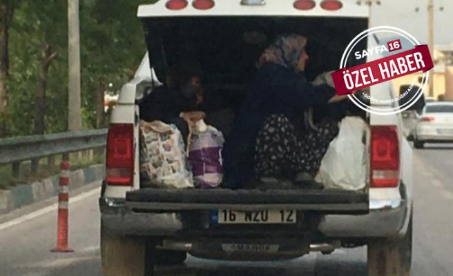 Bursa'da hayret veren görüntüler