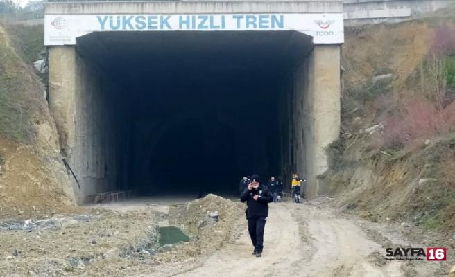 Tünel girişinde yanmış erkek cesedi bulundu