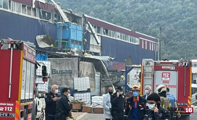 Bursa'da fabrikada patlama meydana geldi yaralılar var...