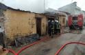 Bursa'da tek katlı tarihi bina yandı
