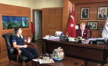Tokyo Olimpiyatlarında Bronz Madalya alan Merve Çoban, Bayrampaşa Belediye Başkanını ziyaret etti