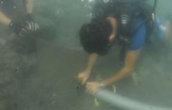 Yüzyılın keşfi havadan ve su altından görüntülendi