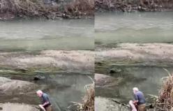 Boyu kadar balığı böyle yakaladı