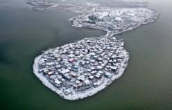Küçük Venedik karlar arasında böyle görüntülendi
