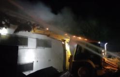 Bursa'da tavuk çiftliğinde büyük yangın