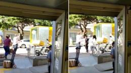 Bursa'da kargo rezilliği: Kolileri basket atar gibi attı