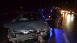 İnegöl'deki zincirleme kazada 9 araç birbirine girdi