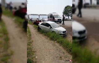 Giresun'da iki otomobil çarpıştı 4 yaralı