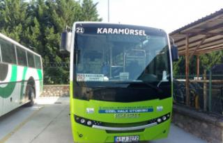 Kocaeli'de alkollü yolcu taşıyan halk otobüsü...