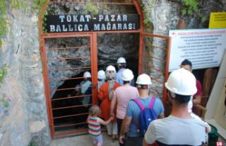 3.4 milyon yıllık Ballıca Mağarası'na ziyaretçi...