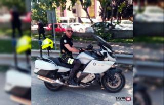 Kayganlaşan yolda metrelerce süreklenen polis ağır...