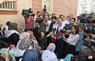 HDP önündeki eylemde 10'uncu gününde