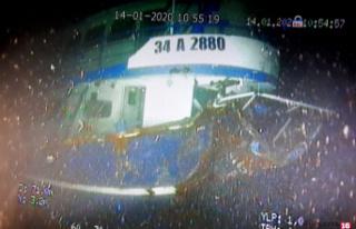 Batan balıkçı teknesinin enkazı su altında görüntülendi