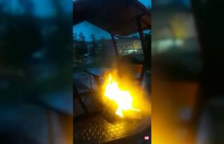 İnegöl'de ateş yakana 392 TL para cezası