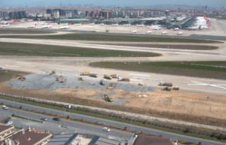 Atatürk Havalimanı'ndaki çalışmalar havadan...