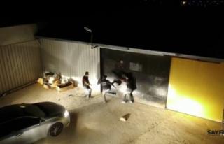 Bursa'da baskın: Uyuşturucu fabrikası ele geçirildi