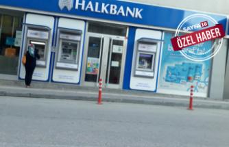 Halkbankası şubesinde virüs karantinası