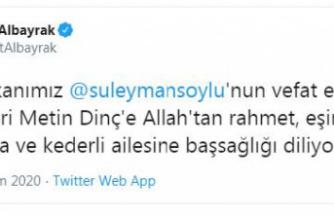 Bakan Albayrak'tan Soylu'ya başsağlığı mesajı