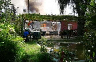 Bursa'da tek katlı ev küle döndü