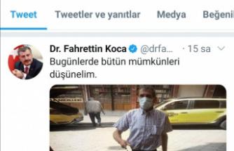 Sağlık Bakanı Koca fotoğrafını paylaşmıştı, o çaycı şimdi meşhur oldu