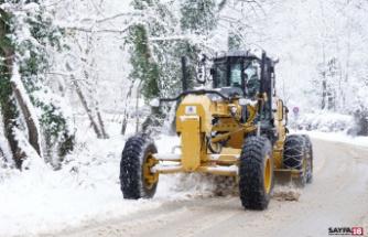 Kestel'de karla mücadele seferberliği