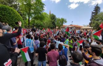 Bursa'da Cuma namazı çıkışı İsrail protesto edildi