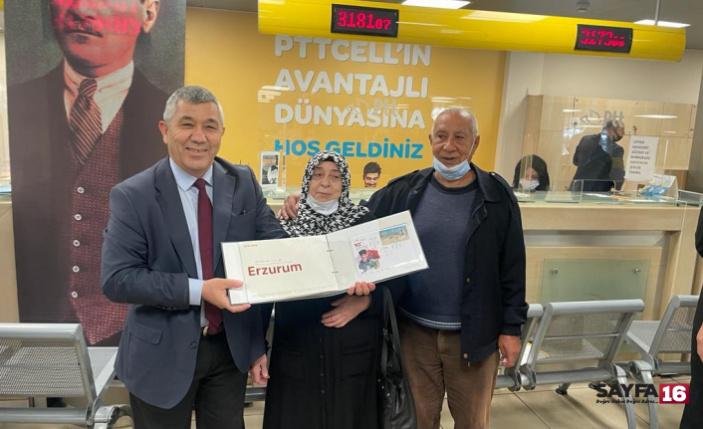 Bursa PTT'de 181'nci yıl gururu: 181 sıra numarasına sürpriz hediye
