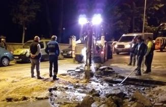 Mustafakemalpaşa'da ana hat patladı sokaklar göle döndü